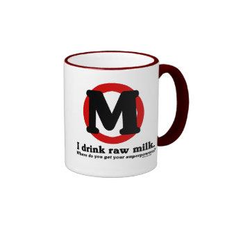 Raw Milk Superpowers Ringer Coffee Mug