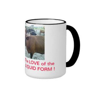 Raw Milk : the Love of the Goddess in Liquid Form Ringer Mug