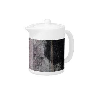 Raw Natural Wood Teapots