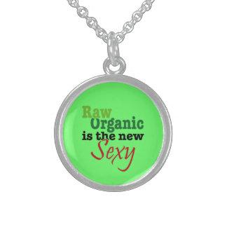 Raw Organic-Sexy Round Pendant Necklace
