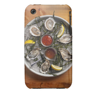 Raw oysters arranged iPhone 3 cover