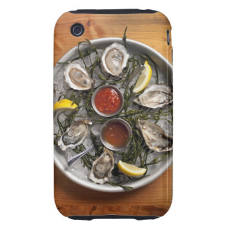 Raw oysters arranged iPhone 3 tough case