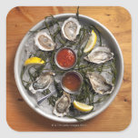 Raw oysters arranged stickers