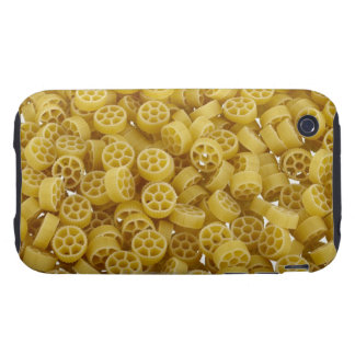 Raw pasta background tough iPhone 3 case