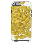 Raw pasta isolated on white background tough iPhone 6 case