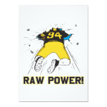 Raw Power 5x7 Paper Invitation Card
