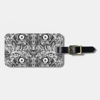 Raw Rough Mean Angry Evil Eyes Sharp Detailed Hand Bag Tag