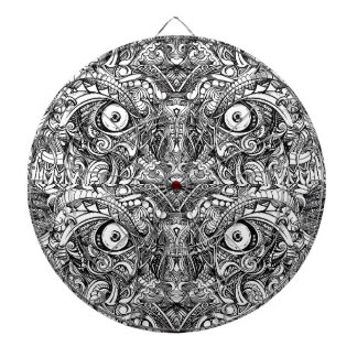 Raw Rough Mean Angry Evil Eyes Sharp Detailed Hand Dartboard With Darts