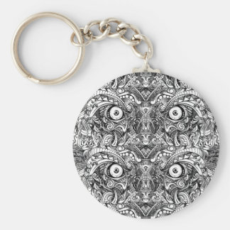 Raw Rough Mean Angry Evil Eyes Sharp Detailed Hand Keychain