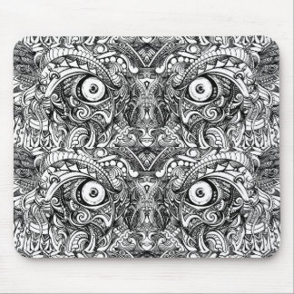 Raw Rough Mean Angry Evil Eyes Sharp Detailed Hand Mouse Pad