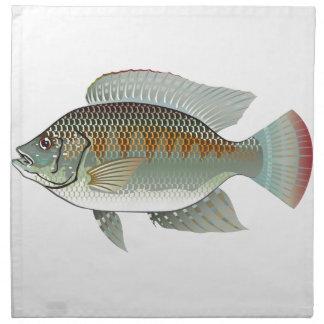 Raw Seafood Tilapia Fish Vector Napkin