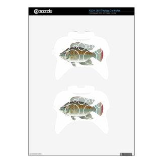 Raw Seafood Tilapia Fish Vector Xbox 360 Controller Skin
