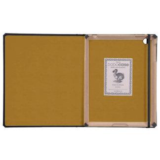 Raw Sienna colored iPad Folio Case