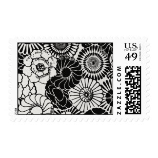 Raw Silk White-BLO01 Postage Stamp