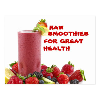 raw smoothie for great health postcard