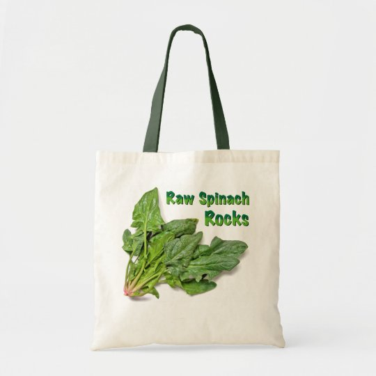 Raw Spinach Rocks Tote Bag
