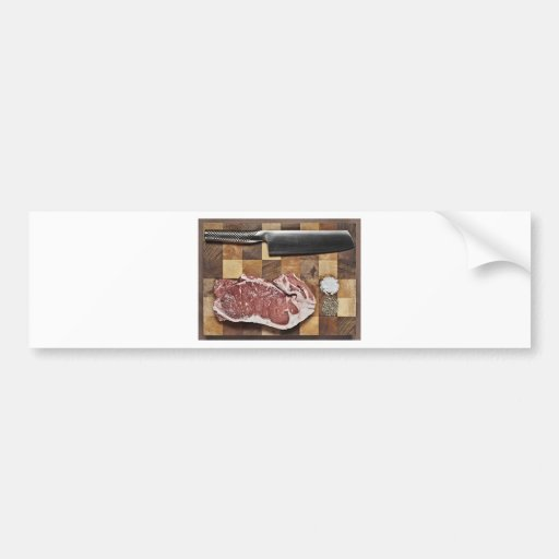 Raw Steak Bumper Stickers