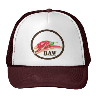 Raw Steak Organic Planet Hats