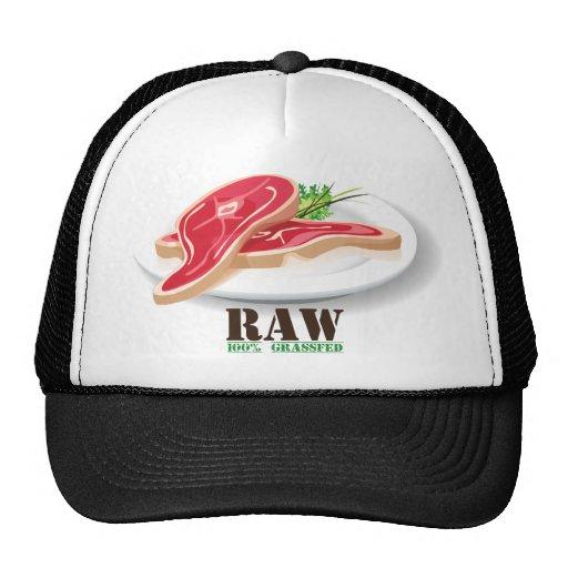Raw Steak Organic Planet Hats