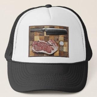 Raw Steak Trucker Hat