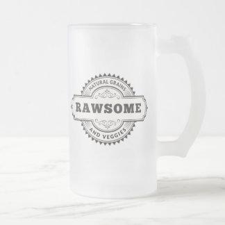 Raw Vegan Vegetarian Rawsome Frosted Glass Beer Mug