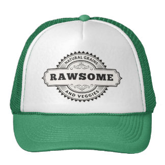 Raw Vegan Vegetarian Rawsome Trucker Hat