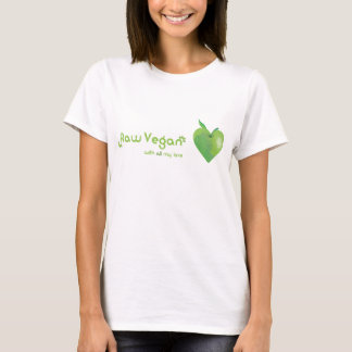 Raw vegan with all my love (green apple heart) T-Shirt