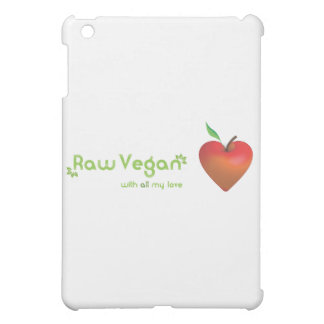 Raw vegan with all my love (red apple heart) iPad mini cases