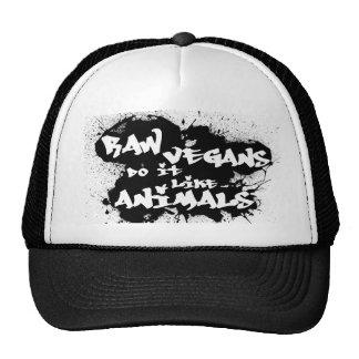 Raw Vegans do it Like Animals Hat