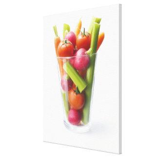 Raw vegetable shake canvas print