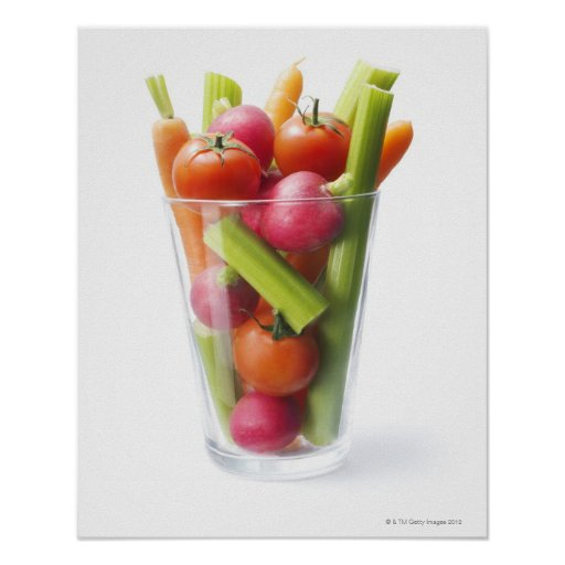 Raw vegetable shake posters