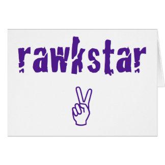 RawkStar Tarjeta De Felicitación