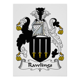 Rawlings Family Crest Poster