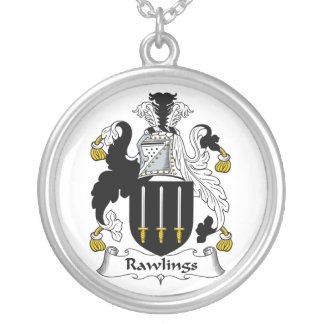 Rawlings Family Crest Round Pendant Necklace