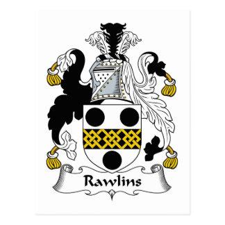 Rawlins Family Crest Postcard