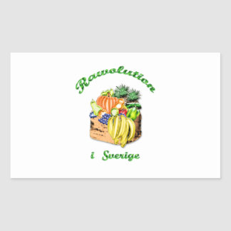 RAWOLUTION swedish Rectangular Sticker
