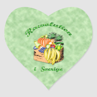 RAWOLUTION swedish Heart Sticker