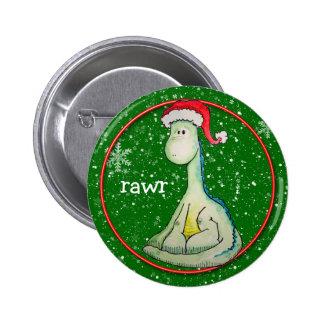 Rawr! Christmas Dinosaur Pinback Buttons