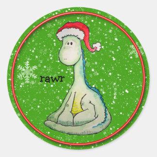 RAWR! Christmas Dinosaur Sticker