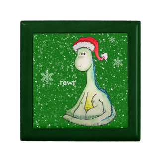 RAWR! Christmas Dinosaur Trinket Box
