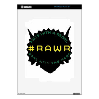 #RAWR DECALS FOR THE iPad 2