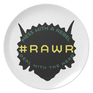 #RAWR DINNER PLATE