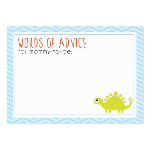 Rawr! Dino Baby Shower Mommy Advice Cards Business Card