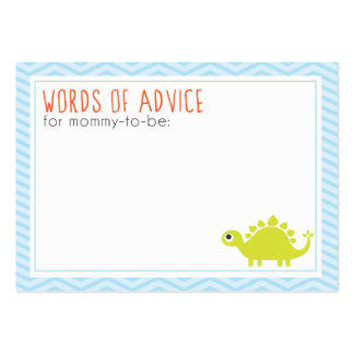 Rawr! Dino Baby Shower Mommy Advice Cards Large Business Cards (Pack Of 100)