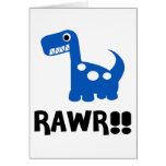 Rawr Dino Blue Cards