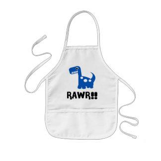 Rawr Dino Blue Kids' Apron