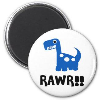 Rawr Dino Blue Fridge Magnets