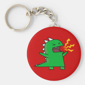 RAWR Dino - customizable! Basic Round Button Keychain