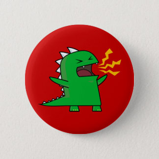 RAWR Dino - customizable! Pinback Button
