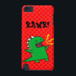 "RAWR Dino - customizable! (small) iPod Touch (5th Generation) Cover<br><div class=""desc"">Add/change text,  change background colors! Rawr Dino is here for you!</div>"